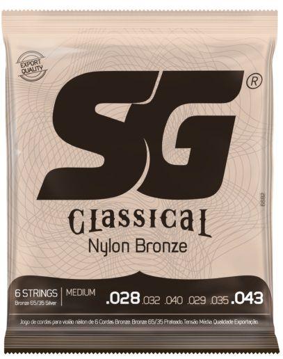 Encordoamento SG Strings Classical Nylon - Medium 028 - 043 Com Bolinha