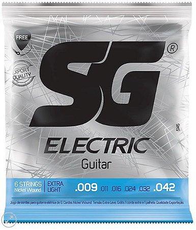 Encordoamento SG Strings Eletric Guitar Nickel Wound - Extra Light 009 - 042