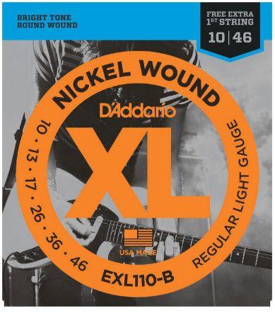 Encordoamento D'Addario Guitarra EXL110-B Nickel Wound - Regular Light 010 - 046