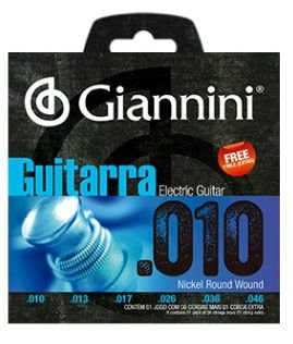 Encordoamento Giannini Eletric Guitar Nickel Wound - Medium 010 - 046