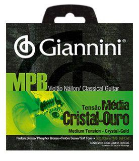 Encordoamento Giannini Violão Nylon MPB Cristal Ouro - Média Com Bolinha