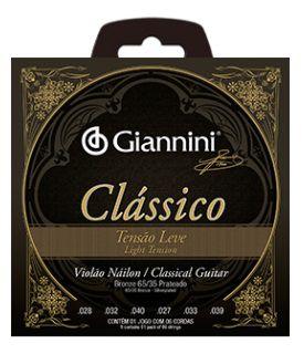 Encordoamento Giannini Violão Nylon Classical - Leve - Sem Bolinha