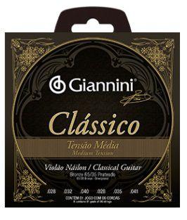 Encordoamento Giannini Violão Nylon Classical - Média - Sem Bolinha