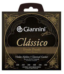 Encordoamento Giannini Violão Nylon Classical - Pesada - Sem Bolinha