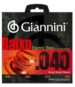 Encordoamento Giannini Eletric Bass Nickel Round Wound - 040
