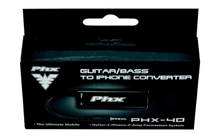 Interface de Áudio PHX para Guitarra e Contrabaixo