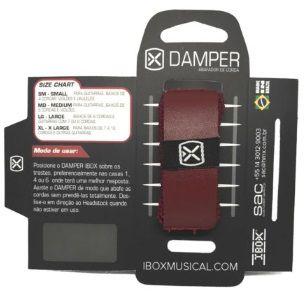 Damper / Abafador de Cordas IBOX Couro Vermelho - Small