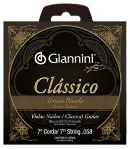 7ª Corda Nylon Giannini Classico - Tensão Pesada GENWPA7-7°