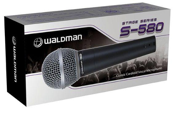 Microfone Profissional Cardióide Waldman Stage S-580