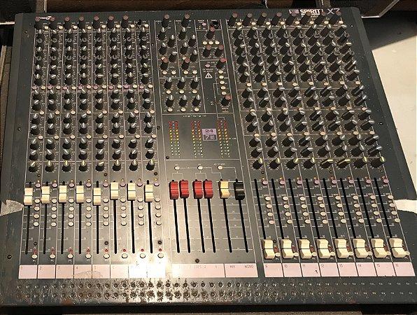 Mesa SoundCraft Spirit LX7 16 Canais Com Case - Usada