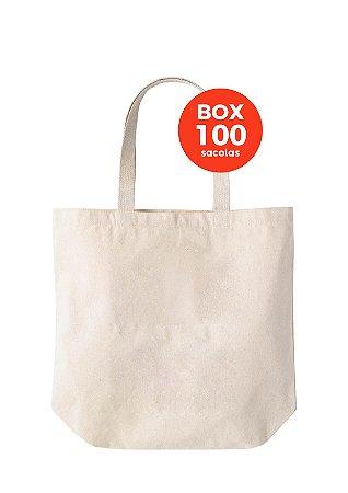 BOX com 100 sacolas 35x30x13cm