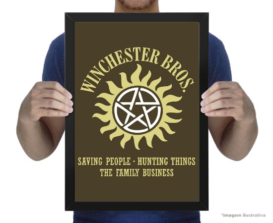 Poster Sobrenatural Winchester Bros