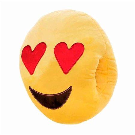 Almofada Emoji Apaixonado Com Bolso - Poopstore