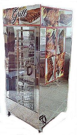 MÁQUINA DE ASSAR FRANGOS SELAPLASTINOX 160KG