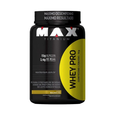 Whey Pro - Max Titanium (1kg)
