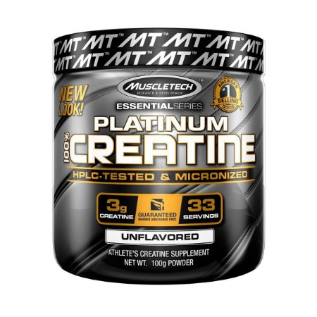 Platinum 100% Creatina - Muscletech (100g / 400g)