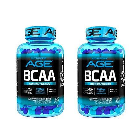 2 unidades - BCAA 1000mg - Nutrilatina AGE (240 caps total)