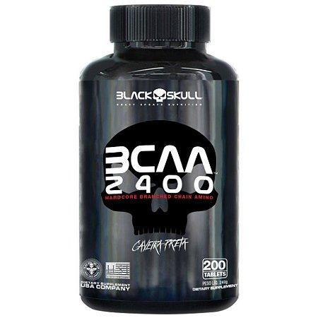 [PROMOÇÃO] BCAA 2400 - Black Skull (200 cápsulas) - (Validade 12/20)