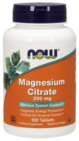 MAGNESIUM CITRATE 200mg - 100 tabletes Now Sports