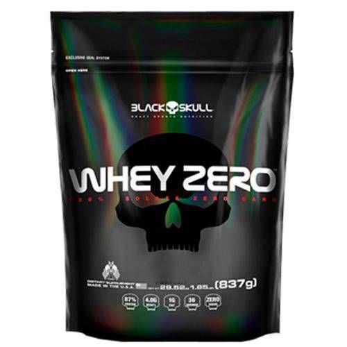 WHEY ZERO (Refil) - 837g - Black Skull