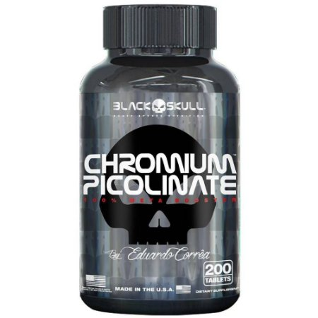 CHROMIUM PICOLINATE 200 tablets Black Skull