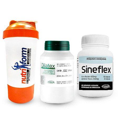 Sineflex 150 caps + Dilatex 152 caps + Coqueteleira