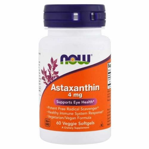 ASTAXANTHIN 4mg 60 CAPSULAS - NOW SPORTS