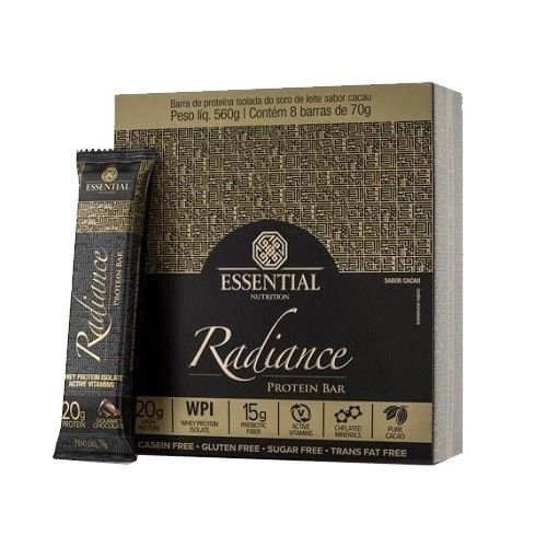 RADIANCE WHEY BAR GOURMET CHOCOLATE 8 UNIDADES