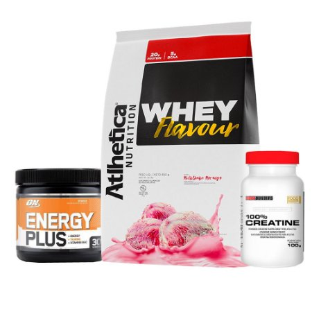 COMBO WHEY FLAVOUR + ENERGY PLUS + 100% CREATINA 100g