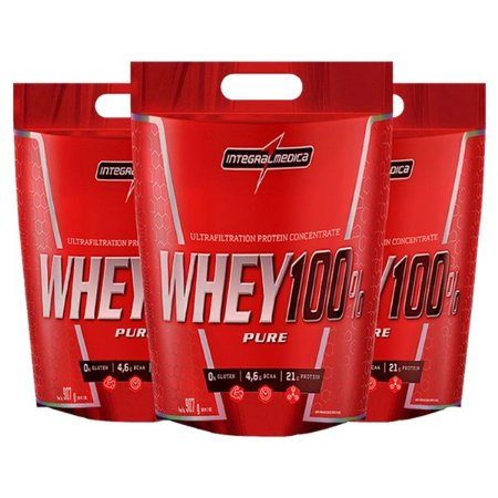 LEVE + PAGUE - WHEY 100% PURE 907G - INTEGRALMÉDICA