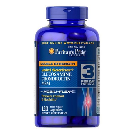 GLUCOSAMINE CHONDROITIN MSM - 120CAPS - PURITAN'S PRIDE