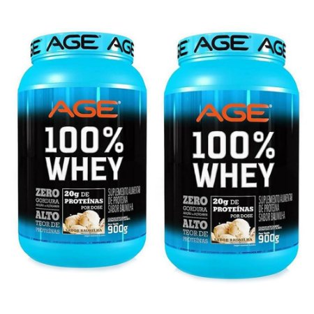 COMBO 2 UNIDADES AGE 100% WHEY - 900g
