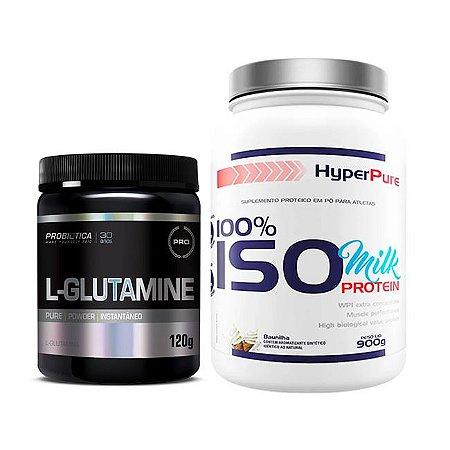 100% ISO MILK PROTEIN - 900g + L-GLUTAMINE 120g