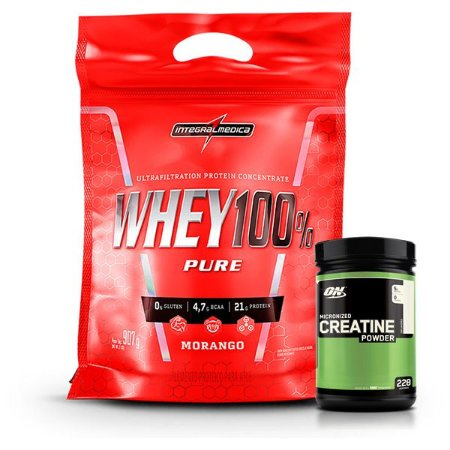 WHEY 100% 907g - INTEGRALMEDICA + CREATINA 100G ON