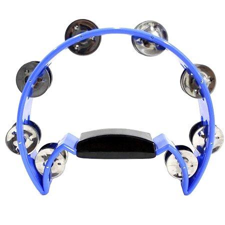 Meia Lua Pandeirola Spanking Com 32 Platinelas Azul