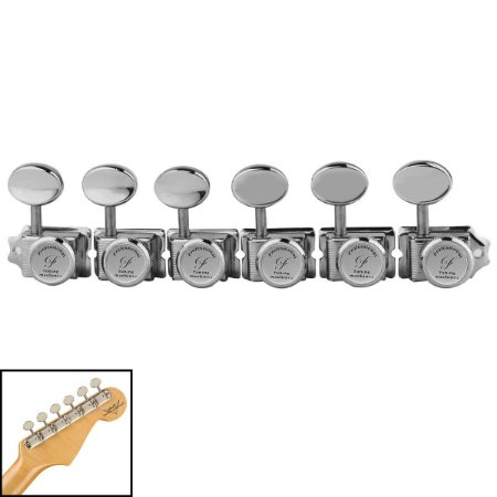 Jogo De Tarraxas Vintage Com Trava Para Guitarra 6 Em Linha