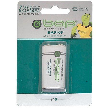 Bateria Zinco Comum Bap Para Instrumentos Musicais BAP-6F 9V