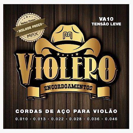 Jogo De Cordas Para Violão Aço Violero 0.10 VA10 Linha Gold