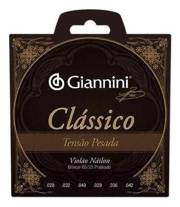 Encordoamento Para Violão Nylon Tensão Pesada Clássico Giannini Oferta