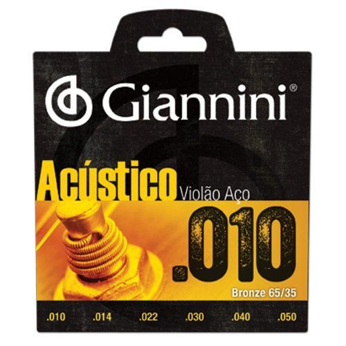 Encordoamento Para Violão Aço 010  Giannini