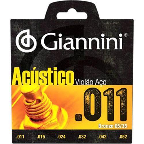 Encordoamento Para Violão Aço 011 Giannini Super Oferta