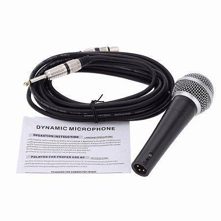 Microfone Dianmico Sm 58 Com Cabo