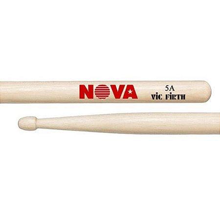 Baqueta Nova By Vic Firth Hickory Ponta Madeira - 5A - 5B - 7A
