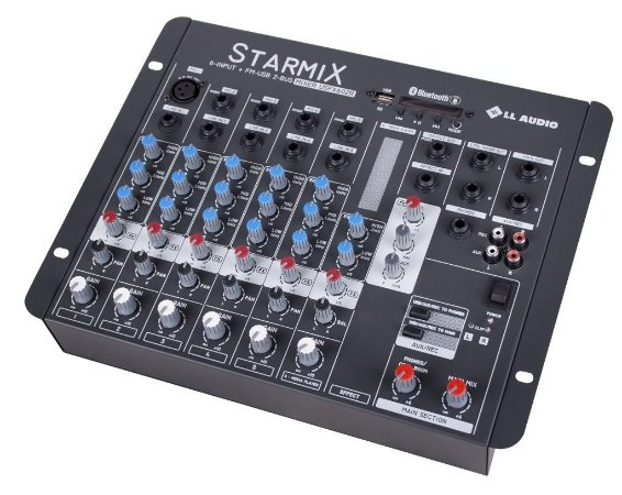 Mesa De Som Mixer Starmix Com Efeito Ll Audio Usfx602bt