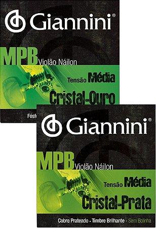 Encordoamento Cordas Para Violão Nylon Tensão Média Giannini Mpb