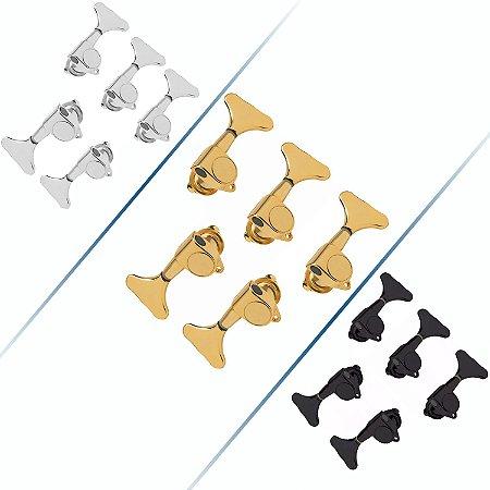 Tarrachas Tarraxas Blindada Para Contra Baixo 5 Cordas 3x2 Cromada-Dourada-Preta