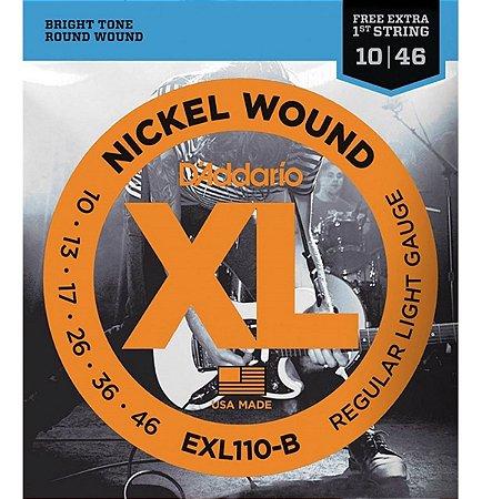 Encordoamento Cordas Para Guitarra 010 EXL110-B Daddario