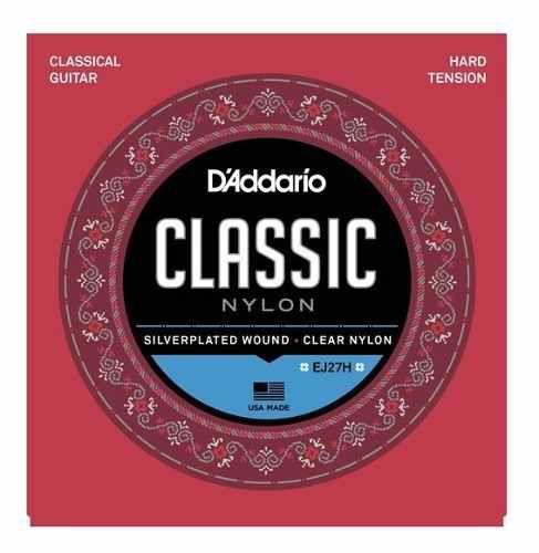 Encordoamento Cordas Para Violão Nylon Tensão Alta Classic EJ27H Daddario