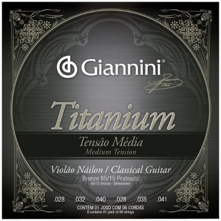 Cordas Para Violão Giannini Nylon Tensão Media Titanium