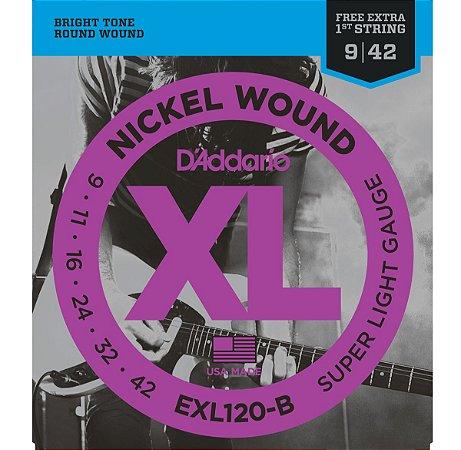 Encordoamento Cordas Para Guitarra 009 EXL120-B Daddario